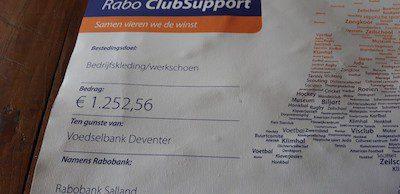 Opbrengst Rabobank Clubsupport